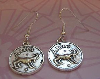 Aries Zodiac Earrings