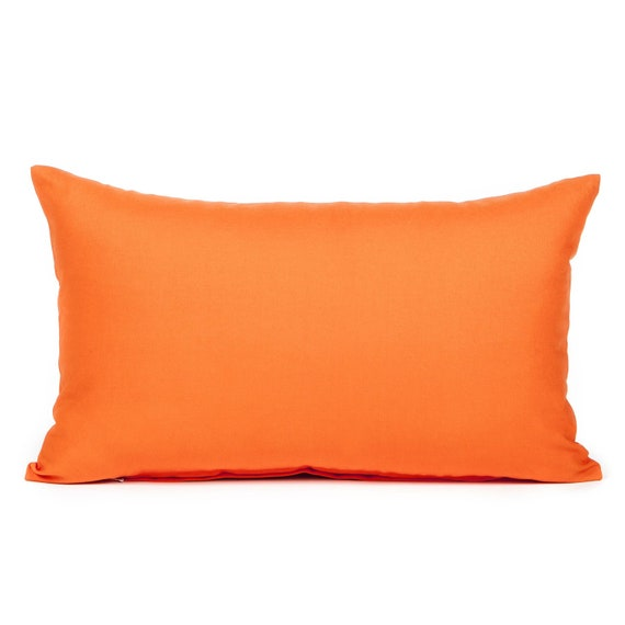 Solid Orange Decorative Pillows : Items similar to 12