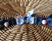 Ombre Pave Crystal Ball Elastic Hair Ties (and Bracelets)