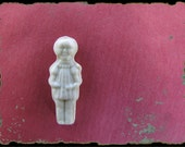 Will you be the king...Vintage french bisque figurine-  rare french cake charms -lucky charm-french pastry- fèves