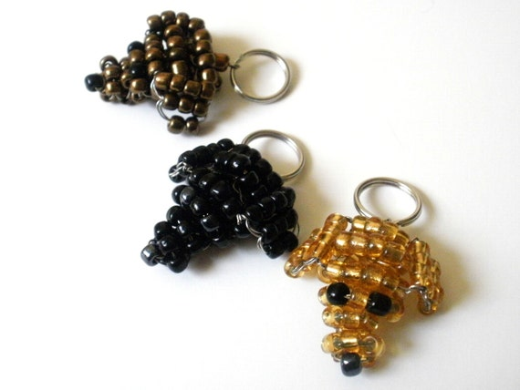 Labrador Retriever Beaded Dog Keychain