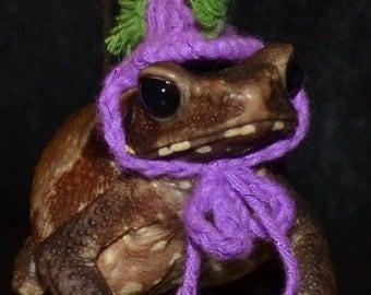 Tiny Pet Halloween Costume Punk Rocker Mohawk Hat for Bearded Dragons, Guinea Pigs,Rats, Toads,Birds,Hamster