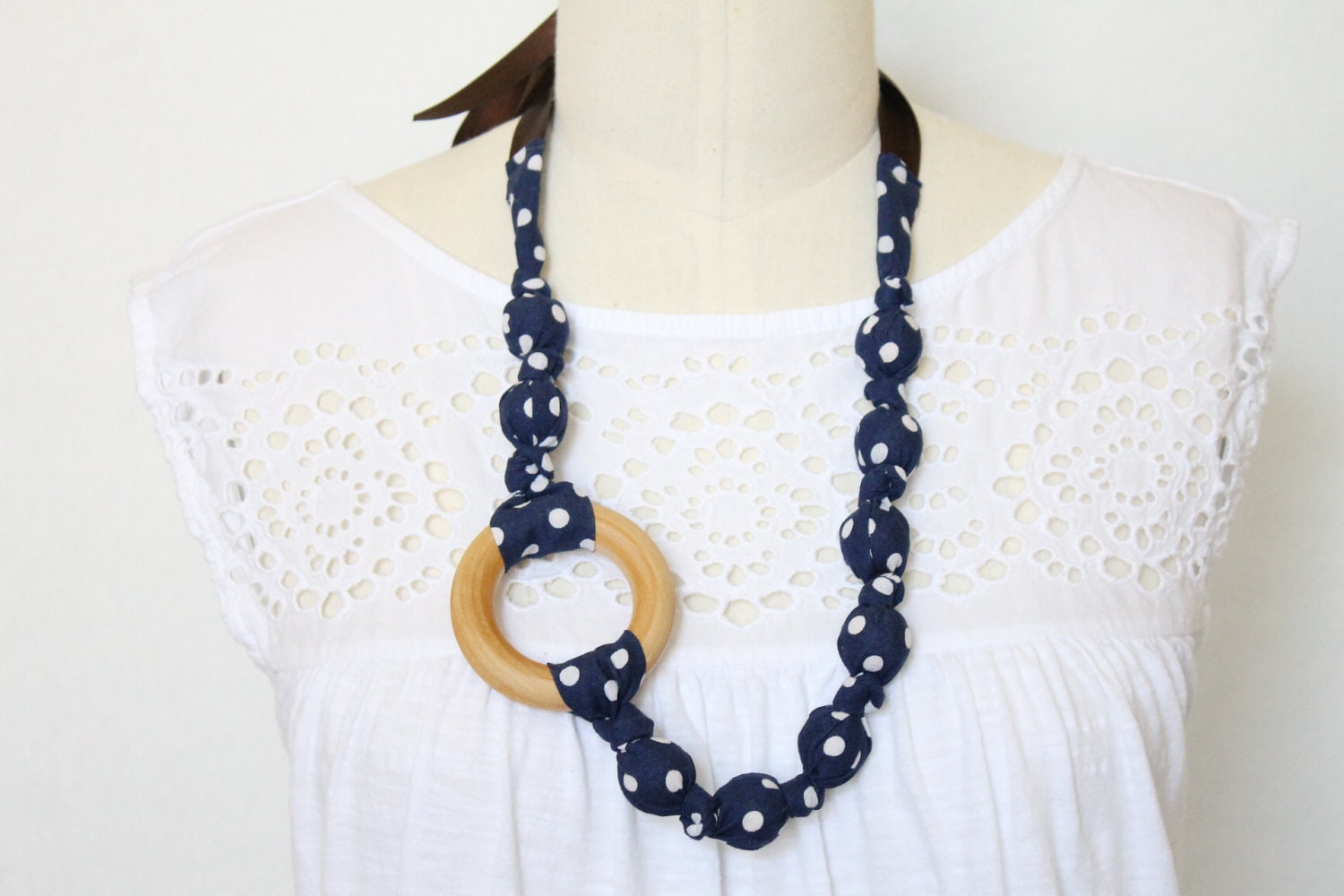 fabric statement necklace chomping nursing by