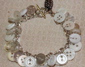 Pearlescent button bracelets