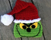 Christmas Santa Grinch Crochet Pattern -- Pattern Includes Sizes Newborn-adult