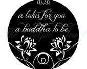 CIJ SALE ITEM Lotus Flower Print, Black and White Print, Typography Art, Quote Print, Typography Poster, Zen Art, Illustration, Fine Art
