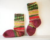 Striped knitted socks