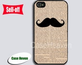 Mustache  dictionary  Iphone 4 Case Cover, iPhone 4s Case, iPhone 4 Hard Case, iPhone Case