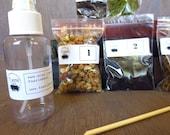Small Terrarium Contents Kit, DIY Terrarium Supply, Moss Terrarium Kit, Layered Terrarium Supplies, Live Moss Kit