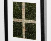 framed ROASTED SEAWEED and compositionally correct FLAXSEED stripes (Beautiful Organic Formalism for Home Decor) It's someone's birthday