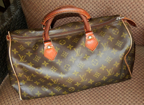 RESERVED for Beth Young - Vintage Louis Vuitton monogram speedy from the 1980s - leather handles