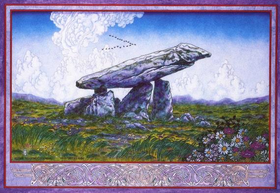 Fine Art Print Irish Landscape Painting Kilclooney Dolmen