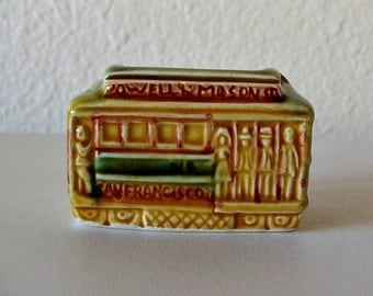 Vintage Toothpick Holder San Francisco Trolley Car
