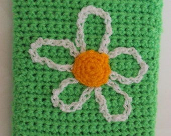 Handmade crochet Daisy Kindle / eReader / 7 inch tablet cover
