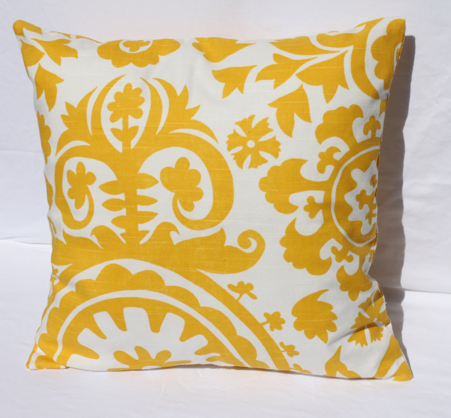 YELLOW PILLOW 16 x 16 Yellow Decorative Pillow by ThatsMyPillow