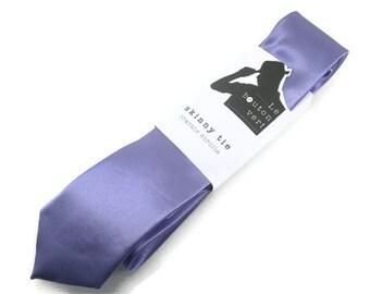 Lavender skinny tie