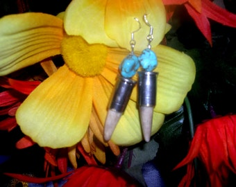 REAL 38 Special Bullet Antler Tip Earrings with Sterling Sliver Wires