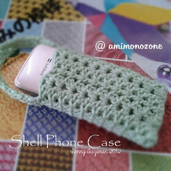 Crochet Patterns English : Shell Phonecase Crochet Pattern English language by amimonozone