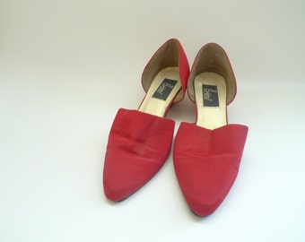 Vintage D'Orsay Silk Shoes