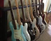 Mulitple Wood Guitar Rack