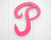 "Kids Wall Decor Wooden Letter ""P"" Baby Girl Room Decor Nursery Wall Art Baby Shower Gift Shabby chic Decor"
