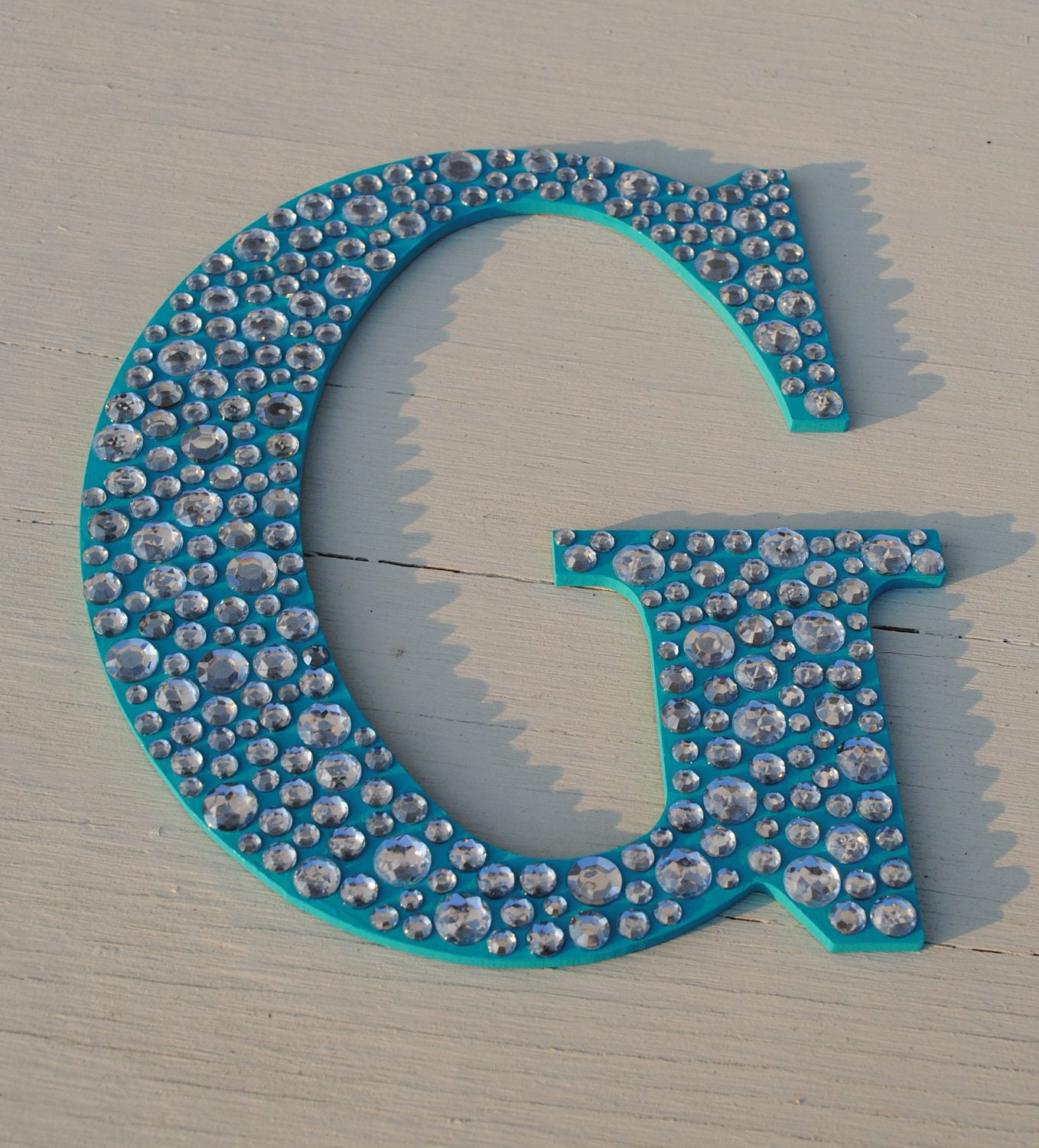 Sparkle 9 turquoise bling decorative wall letters girls Wall letters decor