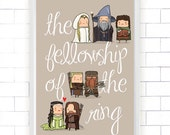 Lord of The Rings A3 Poster, Movie Collection (wall art, LOTR, fellowship, fantastic, digital print, cute)
