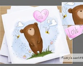 Bear with Love Balloon