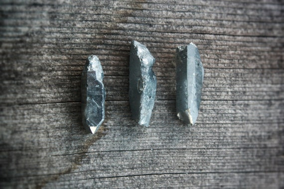 Silver Rock Crystal Point