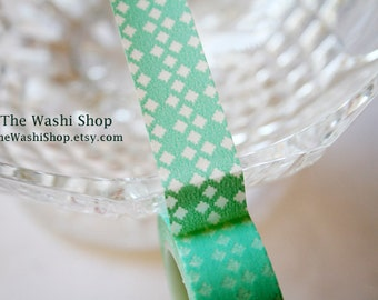 Turquoise Diamond Pattern Washi Tape