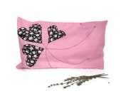 Pink decorative cover for pillows - 20 x 12
