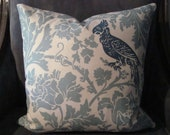 18x18 Throw Pillow-Light Blue, Ivory & Turquoise- Front and Back Pattern