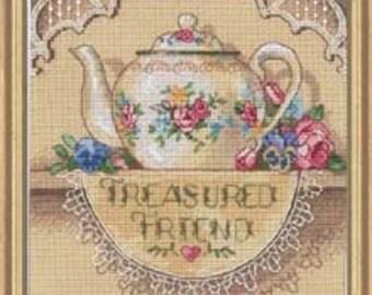 Cross Stitch Kit - Treasured Friend Teapot