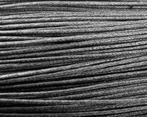 Choice: 0.7mm or 1.0mm GREY / GRAY Waxed Cotton Cord 10 M,  Macrame, Mini Macrame, Beading, DIY Organza Necklace, Cord, Vegan jewelry Cord,