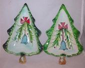 Vintage Christmas Holt Howard Christmas Tree Candy Dishes - 1959