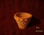 Handmade scrollsawed wooden basket