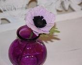 Paper Anemone in Purple Vase