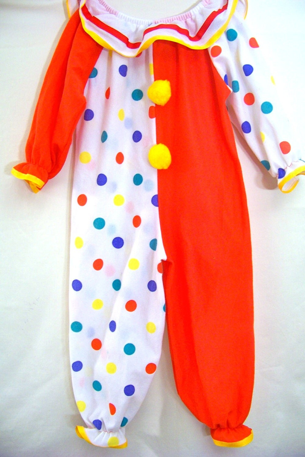 Vintage 2t Clown Dress Up Costume Boy Girl