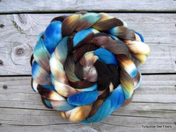 DRIFTWOOD -  4oz. Kettle dyed Merino Roving