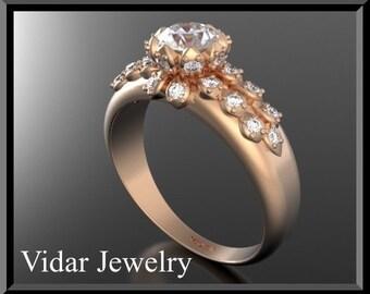 Unique Engagement Ring,Diamond Engagement Ring,Flower Engagement Ring,Halo Engagement Ring,UNIQUE Engagement Ring,Weddings,Brides,Rose gold