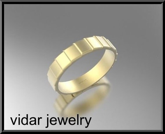 Mens Wedding Band,Unique Mens Wedding Band,14K Yellow Gold Ring For Mens,Mens Wedding Ring,Custom Wedding Band,Mens Ring