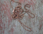 30 Inch Chain -- Purchase a Longer Oxidized Copper Chain