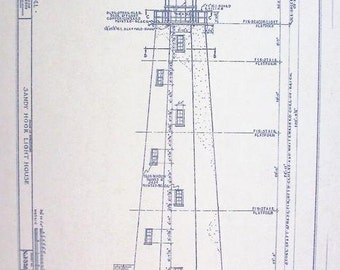 Sandy Hook Lighthouse Blueprint