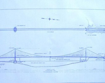 Golden Gate Bridge In San Francisco Blueprint