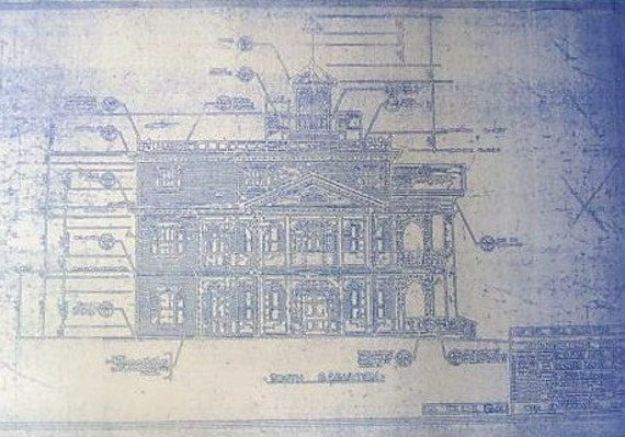Disneyland Haunted Mansion Elevation Blueprint