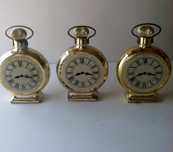 Avon Calling ... A Set Of Three Vintage Avon Pocket Watch Bottles