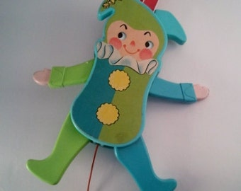 Fisher Price Jolly Jumping Jack Toy  1969
