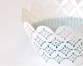 Laser Cut Lace Cupcake Wrappers - Diamond x 20