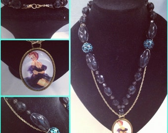 Miss Chievious Pin Up Necklace perfect Rockabily Kitsch