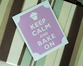 Keep calm bake on fridge magnet